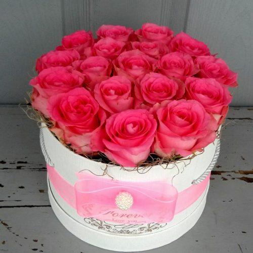 Virágdoboz pasztell színben