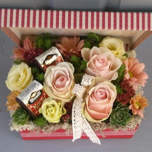 Csokis virágdoboz