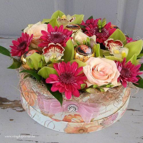 Színes Mozart virágdoboz