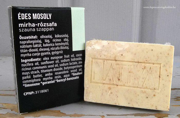 Mirha Rózsafa szauna szappan
