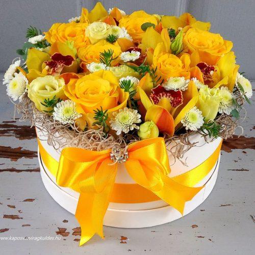 Sárga virágdoboz 2175