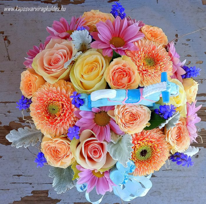 Babaköszöntő virágdoboz 3014